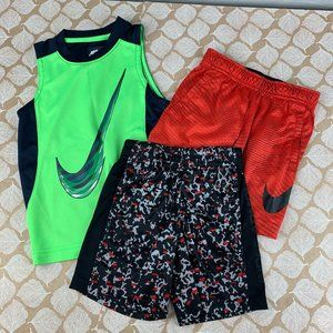 Nike Under Armour Size 4 Short Shirt Set